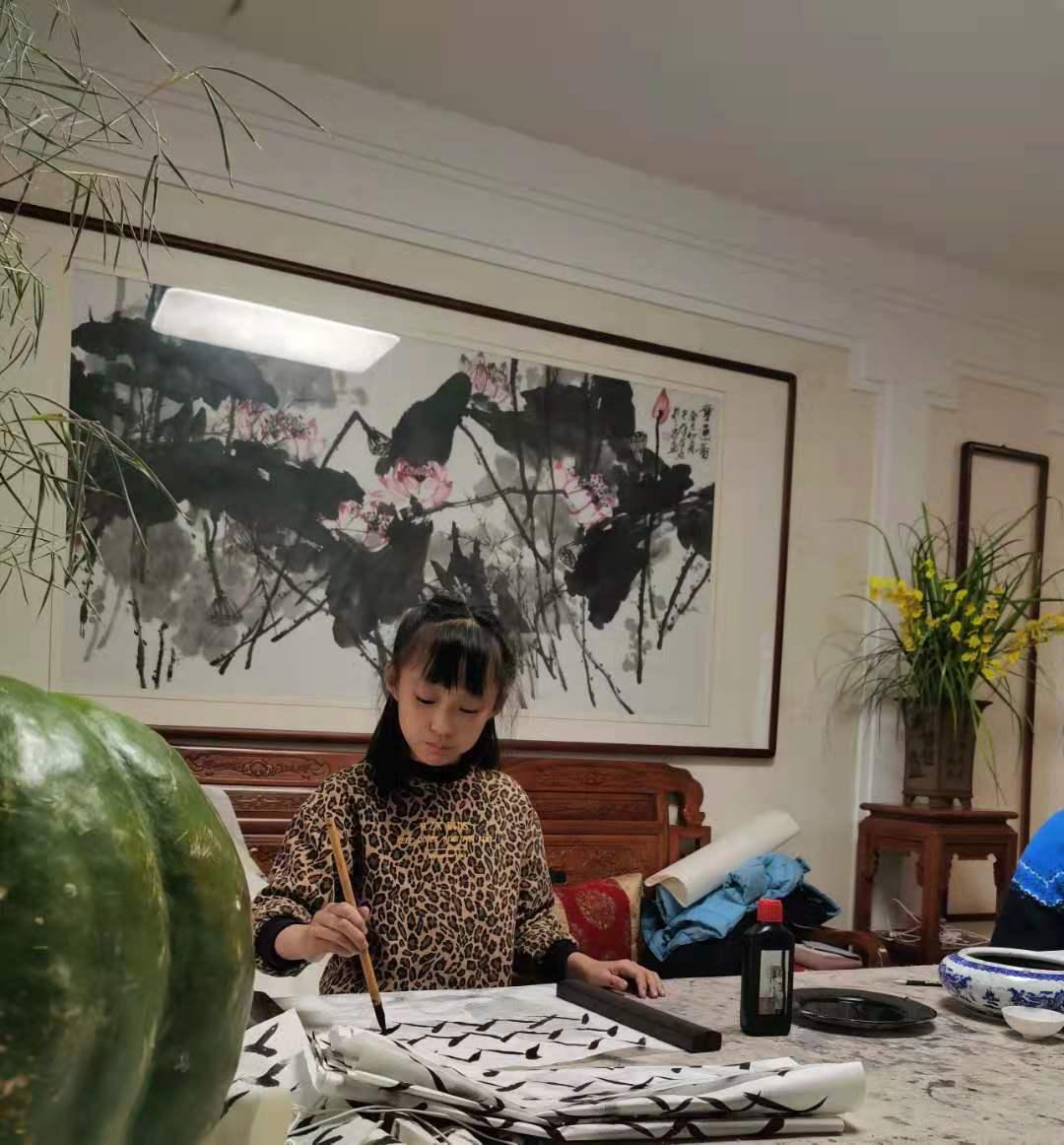 2020.11.22 济南少儿书法国画课堂 济南李永钧老师墨茗轩少儿学书法国画班